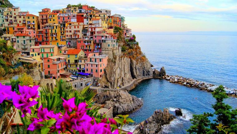 Küstenstadt in Italien